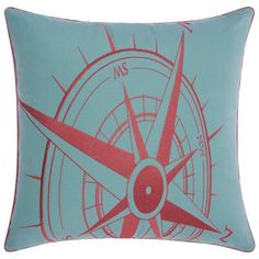 Mina Victory Compass Indoor / Outdoor Throw Pillow ($67) ❤ liked on Polyvore featuring home, home decor, throw pillows, outdoor pillows, aqua outdoor pillows, outdoor compass, outdoor throw pillows and aqua blue throw pillows