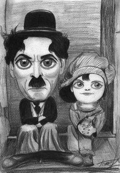 charlie chaplin caricatures | Charlie Chaplin (medium)