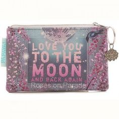 ~LOVE YOU TO THE MOON~ COIN PURSE BY PAPAYA ART NWT #PAPAYAART #CoinPurse
