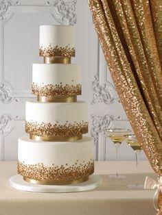 Golden Sequence Wedding Cake Zoe Clark Cakes