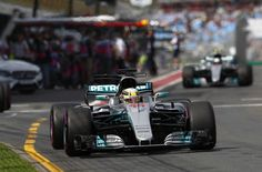 Australian Grand Prix: Lewis Hamilton takes first free practice session