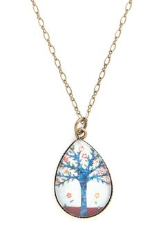 Tree's a Crowd Necklace. Youll be a sweet standout when you slip on this brass necklace! #multi #modcloth
