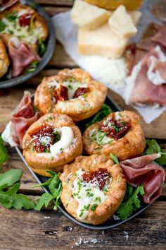 No longer a side dish, make Yorkshire Puddings the main event with these herby Yorkshire puddings, filled with cheesy béchamel and sunblush tomatoes! Yorkshire Pudding Canapes, Yorkshire Pudding Filling, How To Make Yorkshire Pudding, Yorkshire Pudding Recipes, Muffin Tin Recipes, Baby Food Recipes, Beef Recipes, Dutch Baby Recipe, Savory Muffins