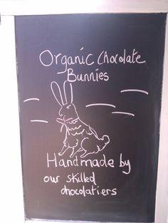 Edinburgh Easter Bunny Organic Chocolate, Edinburgh, Easter Bunny, Drink Sleeves, Chalkboard Quotes, Art Quotes, Handmade, Hand Made, Handarbeit