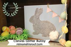 Canvas Glitter Bunny