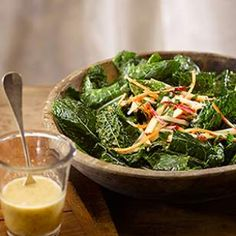 Kale, Carrot & Apple Salad with an easy maple, mustard and apple cider vinaigrette.