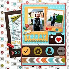 Layout created by design team member Ashley Stephens using our Daily Grind collection