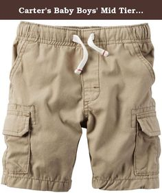 Carter's Baby Boys' Mid Tier Shorts - Khaki - 24 Months. Mid Tier Shorts (Baby) - Khaki Carter's is the leading brand of children's clothing, gifts and accessories in America, selling more than 10 products for every child born in the U.S. The designs are based on a heritage of quality and innovation that has earned them the trust of generations of families.