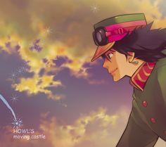 ハウルの by のりたま #howl moving castle #miyazaki I like this. It would be a good adventerous poster to hang in your room. ;)