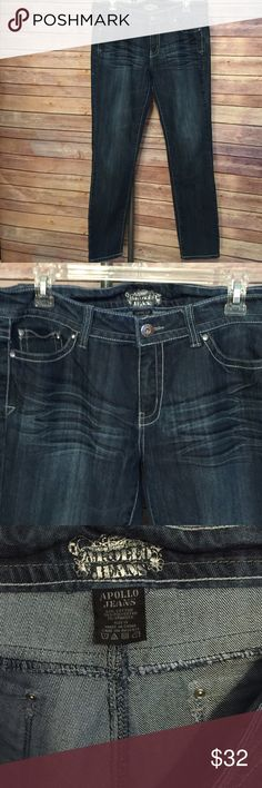 Apollo Jeans Cute bling pockets Sz 15? Sassy cute jeans Jeans Skinny