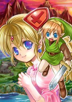 The Legend of Zelda jp art - 2006 ten years anniversary fan work <3