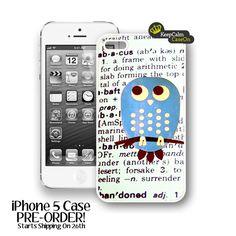iPhone 5 Case, Cute Blue Owl iPhone Case Hard Fitted iPhone 5 Case, iPhone 5 Hard Case. $15.00, via Etsy.