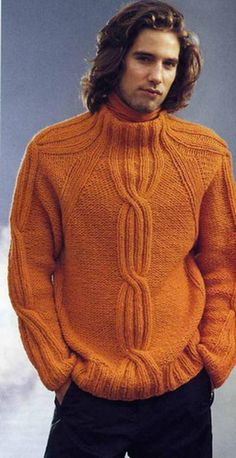 Wool sweater men Pullover winter Sweater Mens Jumpers Sweater hand knit Knitted Pullover Mens Luxury Knitwea Made To Order Men's Clothing Hand Knitted Sweaters, Wool Sweaters, Knitting Sweaters, Handgestrickte Pullover, Outfits Casual, Winter Sweaters, Knitting Designs, Pulls, Designing Women