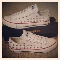 Studded Converse by DonishDesigns on Etsy 5d52f08db