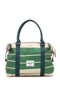 A nice bag for the Northwest Natty Gal - Strand Duffel Bag (Army Stripe And Navy) by Herschel Supply Co. | $62.96