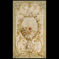 Stock Id: #18950    General Rug Type:       European    Specific Rug Type:       Tapestry    Circa: 1900    Color: Ivory    Origin: France    Width: 4' 2'' ( 127 cm )    Length: 7' 2'' ( 218.4 cm )
