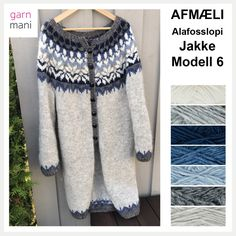 32 AFMÆLI – Modell 6 – Lang Cardigan i Alafosslopi – Garnmani.no Pirate Ship Cakes, 20 Year Anniversary, Popular Birthdays, Lang Cardigan, Underarm, Knitting, Pattern, Sleeves, Sweaters