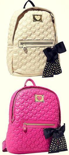 Betsey Johnson bags are life Cute Handbags, Purses And Handbags, Betsey Johnson Purses, Betsey Johnson Backpack, Mini Mochila, Cute Backpacks, Cute Purses, Backpack Purse, Cute Bags