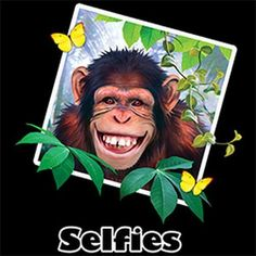 Chimp Selfie Adult Unisex T Shirt 21041HD4