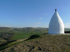 "East Cheshire countryside feat ""White Nancy"". A Grade II listed structure."