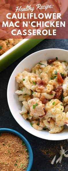 This delicious Cauliflower Mac N' Cheese recipe is hearty, healthy, and the perfect warm meal for a chilly night. It's a healthy spin on a classic comfort food, proving that healthy comfort food is REAL! This is a super tasty gluten-free macaroni and cheese everyone will rave about, and has 31 grams of protein per serving! Try it out tonight and it's sure to become one of your family's favorites, Trust us!