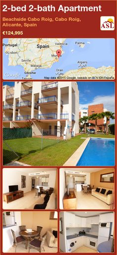 2-bed 2-bath Apartment in Beachside Cabo Roig, Cabo Roig, Alicante, Spain ►€124,995 #PropertyForSaleInSpain