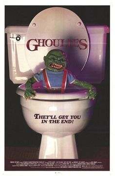 This movie poster was at the rental store and it made me seriously terrified of flushing toilets forever. I got it into my head they popped up after a flush somehow. Just the poster. Never saw the movie.