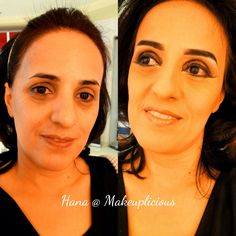 The right shape of eyebrows and eyeliner can make a big difference to lift droopy eyes. #makeuplicious #dubai #uae #makeover