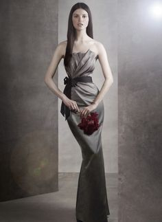 Vera Wang Draped Satin Bridesmaid Dress with Grosgrain Sash for the Valentine's Ball. I got it in the 2 tone lilac instead. Can't wait to wear it.