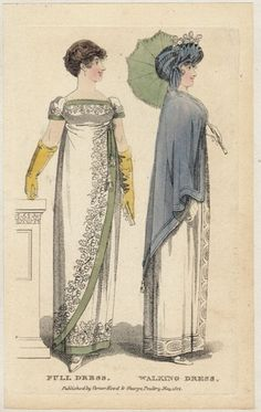 Two ladies. Lady's monthly museum, 1808