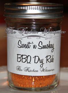 Sweet 'n Smokey BBQ Dry Rub, Seasonings, Make your own spices