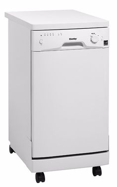 Danby DDW1801MWP 18 Energy Star Rated Portable Dishwasher With 8 Place Settings 6 Wash Cycles Durable Stainless Steel Spray Arm And Interior Built-In Water Softener And Silverware Basket