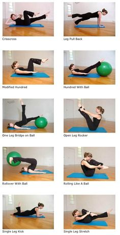 Pilates with ball.  Idaho Athletic Club -  Get your FREE gift - 10 Simple Hacks To Naturally Burn Stubborn Belly Fat