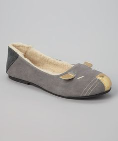Another great find on #zulily! Gray Suede Mouse Flat by L'Amour Shoes #zulilyfinds