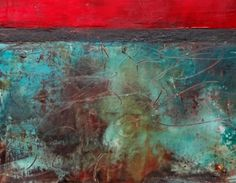 "Lisa B. Boardwine  ""Untitled""  Oil/Cold wax -12""x12"""