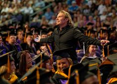 ha. thx 4 bringing ur camera and sharing real time pic. capturing a few of the memories from this mornings program.  Great pic from Commencement Ceremony!