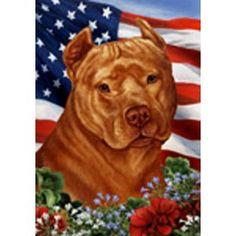 Hell yeah I love this pittie Tamara Burnett Patriotic Pit Bull Flag