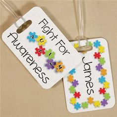 Fight For Autism Awareness Luggage Tag