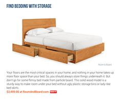 AskMen.com featured our Hudson Storage Bed in their roundup of smart ways to save space!