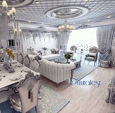 all idea inspiration design interior and exterior home modern decor Luxury Dining Room, Luxury Rooms, Luxury Decor, Luxury Interior Design, Luxury Living, Beautiful Living Rooms, Cozy Living Rooms, Living Room Decor, My Ideal Home