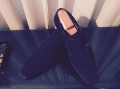 Magnanni dobblemonk blue suede dress shoes for the well dressed man!!