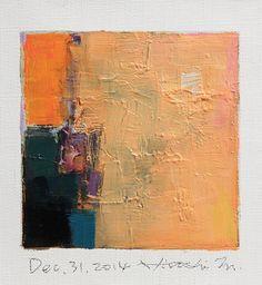 Dec. 31 2014  Original Abstract Oil Painting  by hiroshimatsumoto
