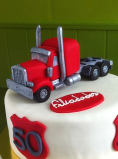 Ideas For Mack Truck Cake Template 30th Birthday Cakes For Men, Truck Birthday Cakes, Semi Truck Cakes, Food Truck For Sale, Dad Cake, Cake Templates, Just Cakes, Cakes For Boys, Themed Cakes