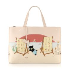 The Fun In The Sun medium leather grab #bag, our seasonal Picture Bag for Spring/Summer 2014, depicts those beautiful, hazy summer days spent by the seaside.