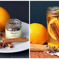 Naranja, canela y clavo de olor