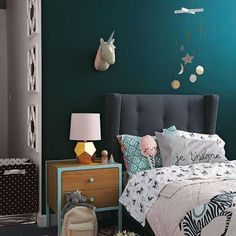 Ever wonder how to use rich wall colors like this one in your kids bedroom? We're sharing tips and tricks to get the look on our blog. Click the link in our profile to read.