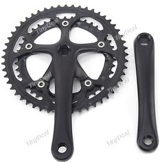 Super-Light Black Steel Bicycle Chainwheel And Crankset Bicycle Set http://www.tinydeal.com/super-px24ck0-p-120679.html