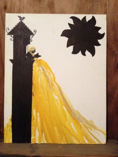 #tangled melted crayon art