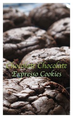 These #Chocolate chocolate #Expresso #Cookies are CRAZY DELICIOUS!  Click the Pic for recipe courtesy www.bestillandeat.com SIMPLY.GORGEOUS.FOOD