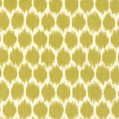 Lime Green Ikat Polka Dot Fabric from DuraleeFinds